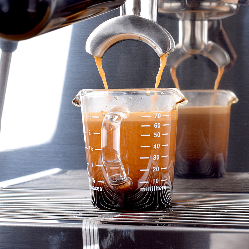 Heat-resistant Glass Measuring Cup Jigger For Espresso Coffee Double-mouthed Ounce Cup 70ml Small Milk Cup