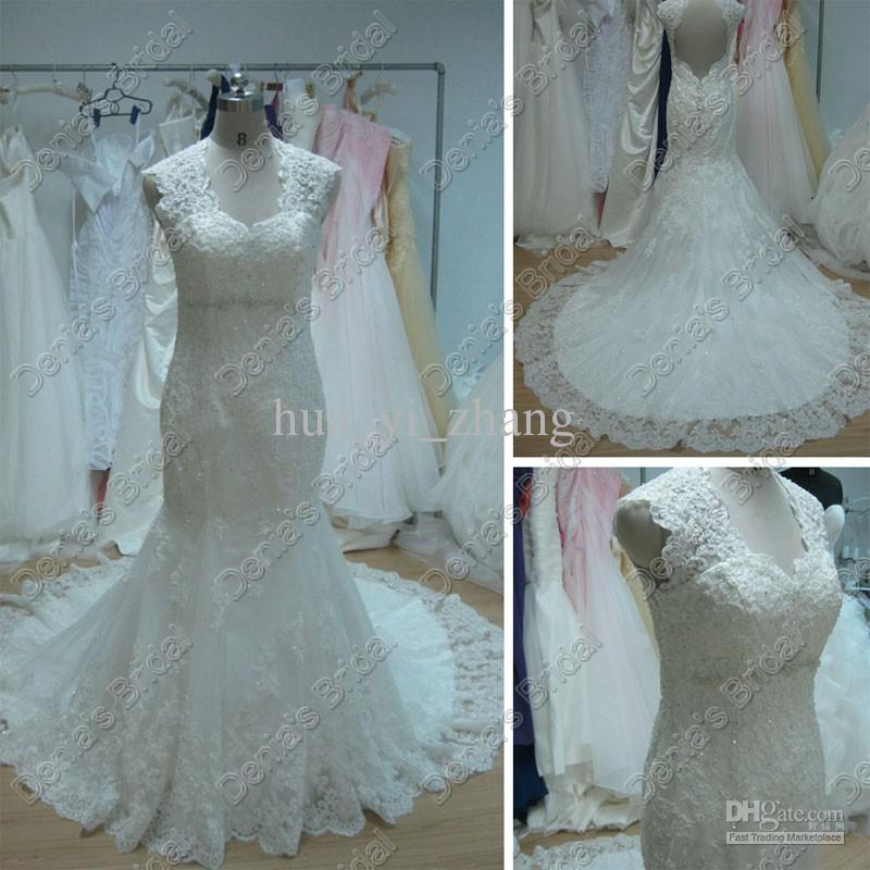 New Fashionable Appliques Beading Vestido De Novia Casamento Bridal Gown Sexy Backless Lace Wedding Dress 2014 Free Shipping