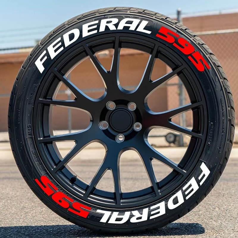 Автомобильные буквы подходят для федеральных наклеек, установленных на шинах, для украшения автомобильных шин, наклейки для простой устано...