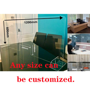Plexiglass Isolation Plate Counter Sneeze Transparent Anti-spray Baffle Acrylic Protection Screen Desktop Isolation Baffle