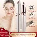Rechargeable Electric Eyebrow Trimmer Makeup Painless Epilator Mini Shaver Razors Portable Facial Hair Remover Women Depilator