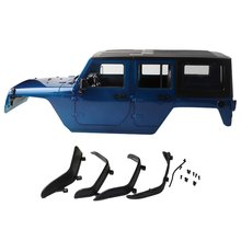 313mm Wheelbase Body Car Shell for 1/10 RC Crawler jeep Cherokee Wrangle Axial SCX10 & SCX10 II 90046 90047 injora 150mm super bright metal 11led lights bar for 1 10 rc crawler axial scx10 jeep wrangler body