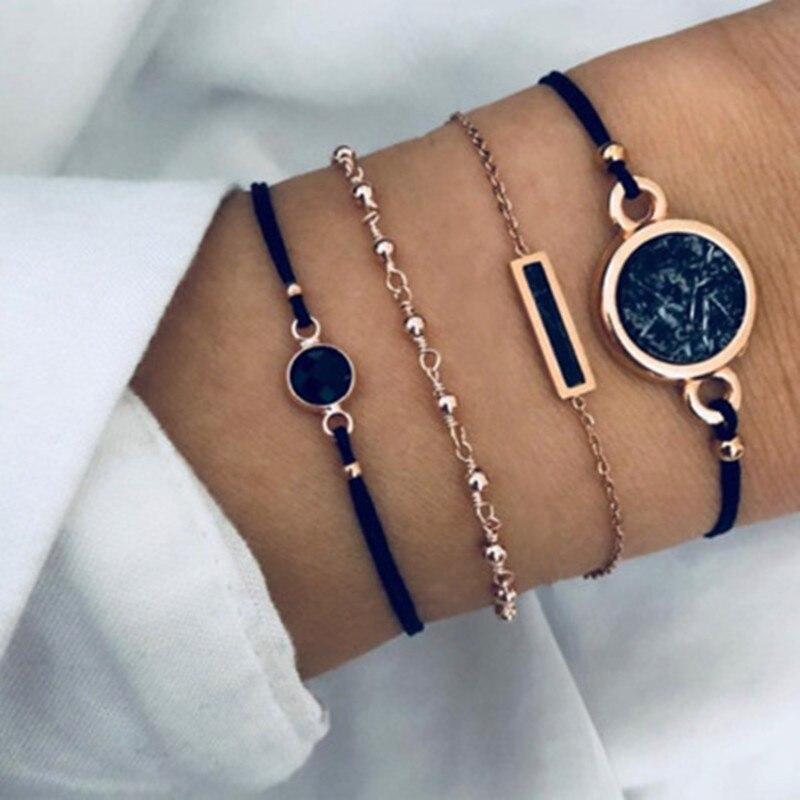 New 30 Styles Mix Round alloy Crystal Marble Charm Bracelets for Women Boho Tassel Bracelet Jewelry fashion Couple bracelet set