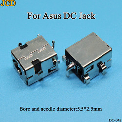JCD 1pcss/lot New 2.5mm DC Power Jack for Asus A52 A53 K52 K53 X52 X53 X54 X55 X43 X42 U52 U30 U47 U50 Laptop charging socket