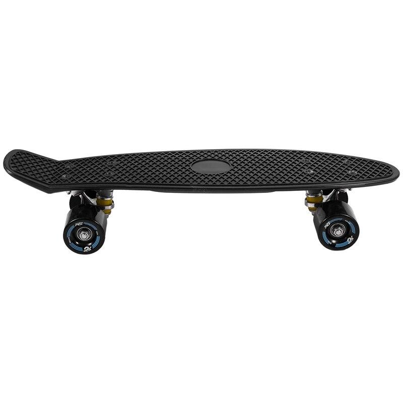 Four-Wheeled 22-Inch Mini Skateboard Cruiser Long Skateboard Adult Children Outdoor Sports Skateboard Single Rocker Pp Skateboar