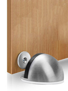 NAIERDI Door-Stopper Non-Punching-Sticker Rubber Floor-Mounted Stainless-Steel Magnetic