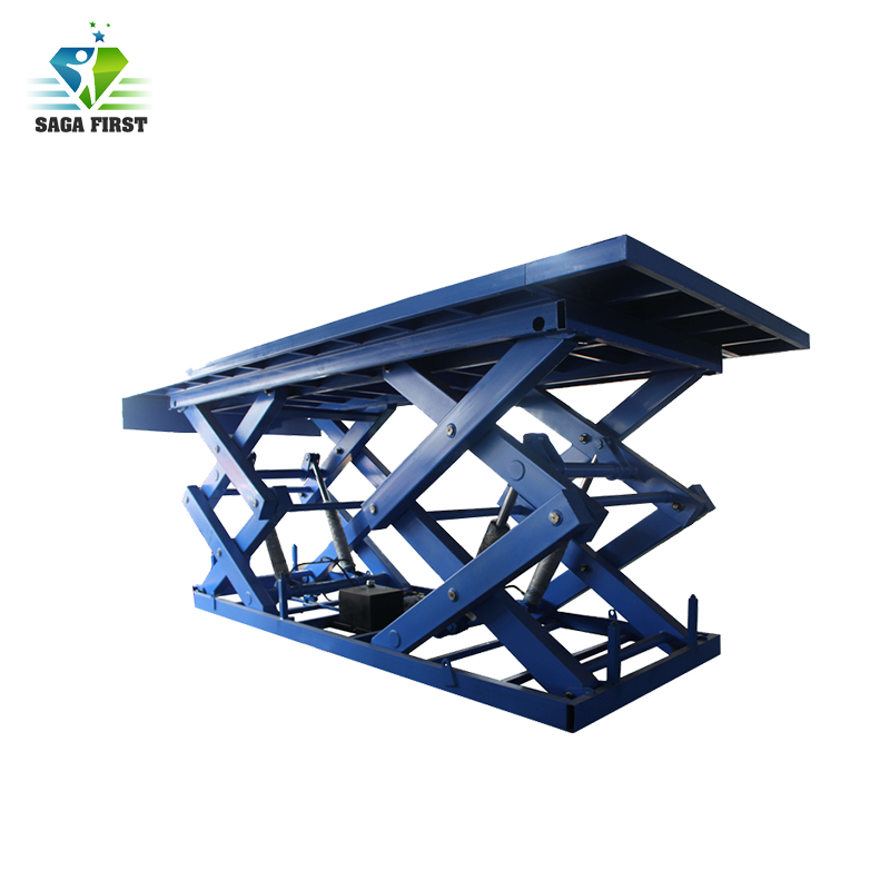 CE 1ton In Ground Scissor Lift Table For Cargo Lifting Custom Make Available