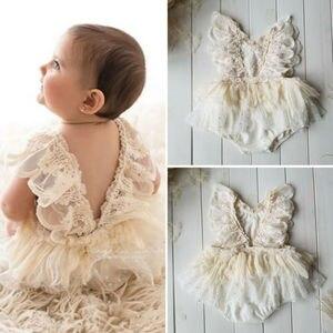 Princess Girl Tutu Romper Dress Newborn Baby Girl Flower Lace Romper Bodysuit Tutu Dress Outfit Clothes 0-24M(China)
