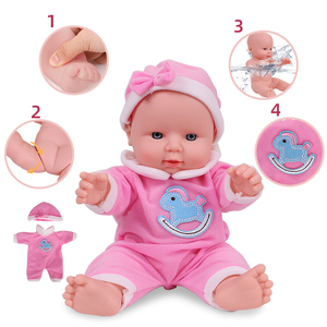 12 inches Reborn Dolls For Fashion Baby Girls Dressed Fashion Clothes Full Silicone Simulation Toys For Kids Birthday Gift(China)