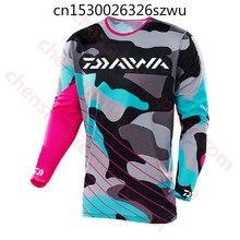 Camiseta manga longa masculina, blusa ultrafina para pesca, protetor solar, anti uv, casaco respirável, tamanho , daiwa,,