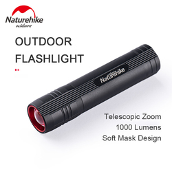 Naturehike Outdoor Flashlight LED Zoomable 130g Mini Rechargeable Waterproof Camping Light 5 Modes Portable Multifunction Use