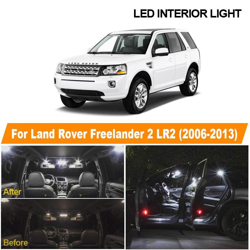 Автомобильная светодиодная лампа Canbus для подсветки номерного знака, 14 шт., для 2006-2013 Land Rover Freelander 2 LR2