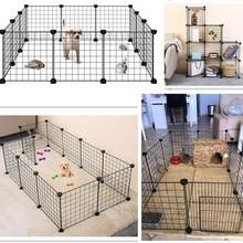 Katlanabilir evcil hayvan oyun parkı demir çit köpek kulübesi ev egzersiz eğitimi yavru yavru uzay köpekler malzemeleri tavşan gine domuz kafesi