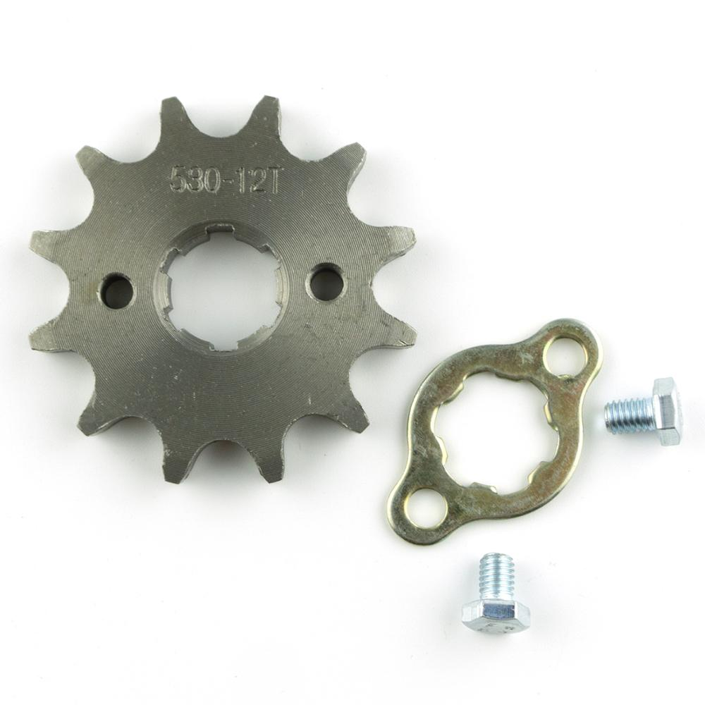 420 Chain 12T Sprocket 17mm For 70cc 110cc 125cc ATV Dirt Bike Parts