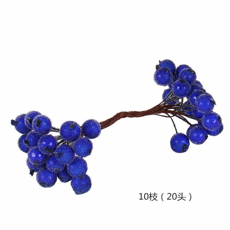 8/10/12/90/144pcs Blauw Gemengde Hybrid Bloem Cherry Meeldraden Bessen Bundel DIY Cake kerst Huwelijkscadeau Doos Krans Decor