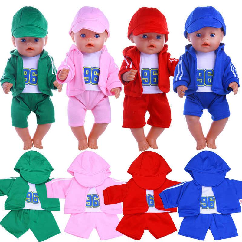 Boneka Olahraga Olahraga Set 10 Gaya Bola Set untuk 18 Inch Amerika Boneka & 43Cm Lahir Generasi Kita ulang Tahun Gadis Hadiah Mainan