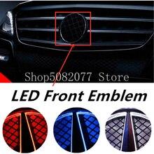 Star Grid Logo Car Front Grille Emblem LED Light for Mercedes Benz W176 W246 W212 C204 W207 W166 W117 W218 W205 W204 2013 2019