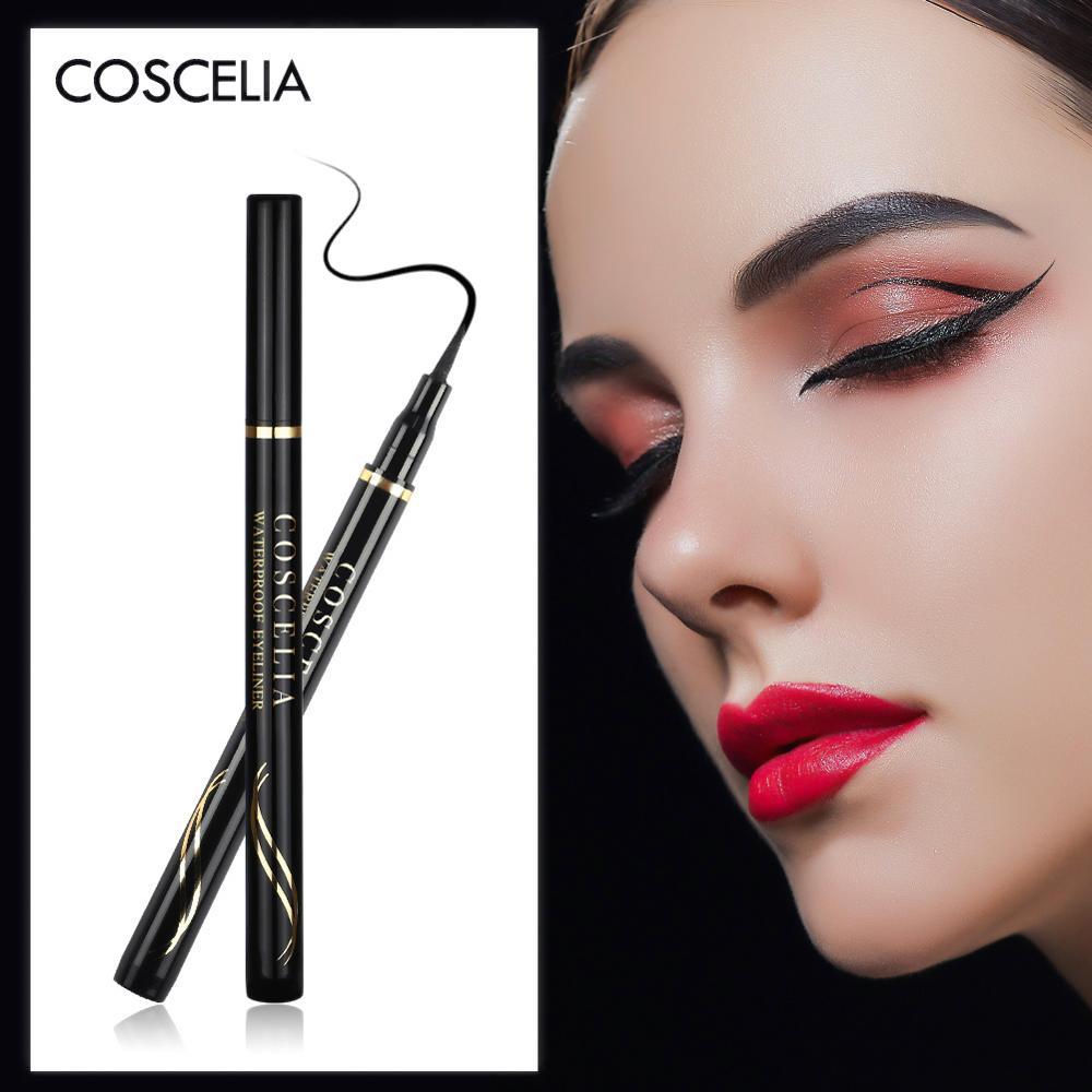 COSCELIA Czarny Eyeliner Wodoodporny Ołówek Do Oczu Długotrwały Ołówek Do Oczu Narzędzia Do Makijażu Eyeliner Oczy Narzędzia Do Makijazu Kosmetyki