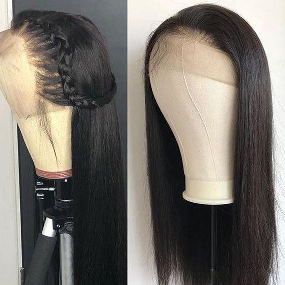 Peruvian 13×4 Lace Front Human Hair Wigs For Women Straight 360 Lace Frontal Wig Non-remy Natural/2#/4# Color Fashion Queen