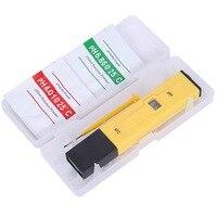 Digital medidor de ph tester display lcd qualidade da água tester alta precisão 0.1 caneta aquário piscina umidade calibração automática Medidores de PH     -
