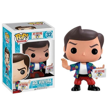 Funko Pop Cartoon Movies Vinyl Figure 32#ACE VENTURA Collection Action Figure Toys Room Decoration Doll Gifts for Kids funko pop star wars figure toys darth vader luke skywalker leia action figure toys for friend birthday gift collection for model