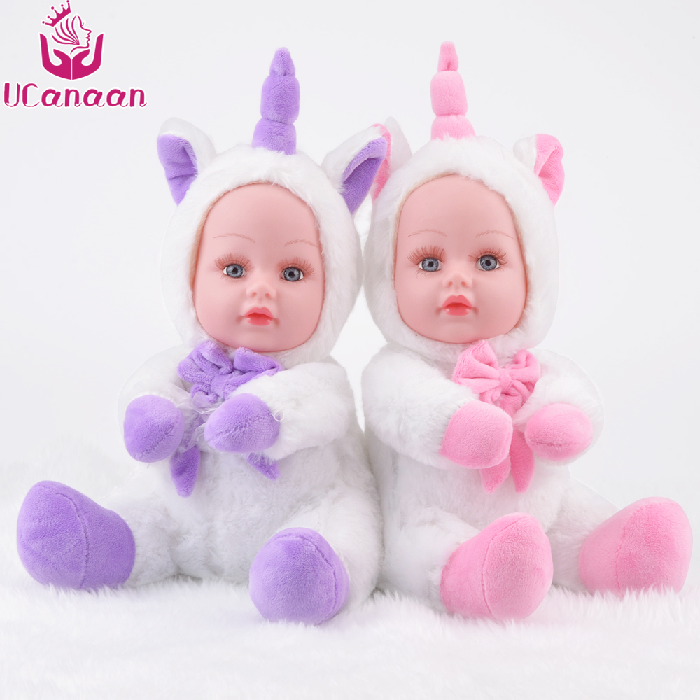 35CM Stuffed Doll Plush Toys Animals For Kids Children Holiday Gift Cartoon Unicorn Doll Soft Accompany Sleeping Toy