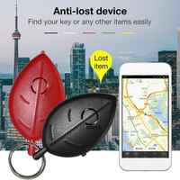 New Key Ring Voice Control Anti-lost Device Leaf Mini Whistle Key Finder Flashing Beeping Remote Kids Key Bag Wallet Locators