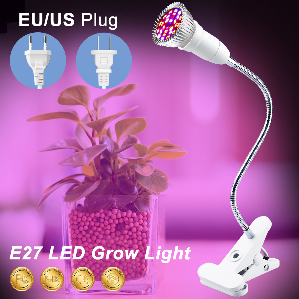 Full Spectrum LED 220V Plant Growing Lamp LED Grow E27 18W 28W Growth Light Greenhouse LED Bulbs Seedling Phyto Lamp Fitolamp