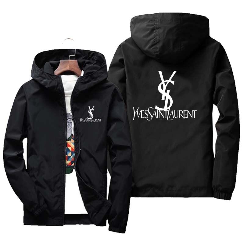 brand clothing Jacket 2020 Spring/Fall Men's Hooded Jacket Fashion Printing Windbreaker Waterproof Casual Jacket Zipper Coat 2