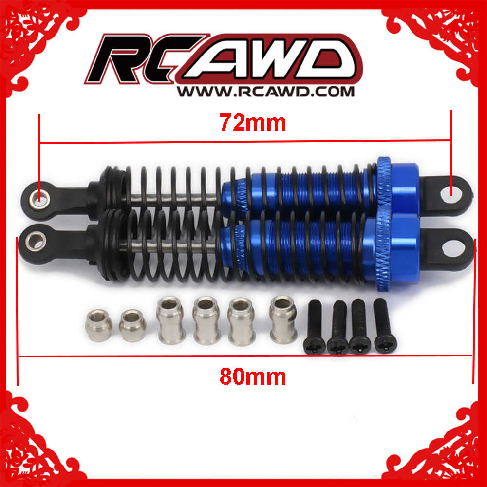 RCAWD Adjustable 80mm Alloy Aluminum Shock Absorber Damper For Rc Car 1/16 Traxxas Buggy Truck Hpi Hsp Losi Axial Tamiya Redcat