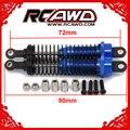 RCAWD 調整可能な 80 ミリメートル合金アルミショックアブソーバー Rc カー 1/16 トラクサスバギートラック Hpi Hsp 用 Losi 軸タミヤ Redcat