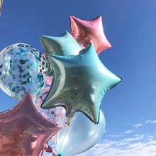 2pcs/5pcs 18inch Colorful Laser Metallic Star Foil Balloons Wedding Bridal Birthday Party Decors Kids Helium Inflatable Globos