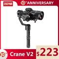 ZHIYUN Crane V2 3-осевой ручной шарнирный стабилизатор для камеры GoPro набор для DSLR Камера sony/Panasonic/Nikon/Canon