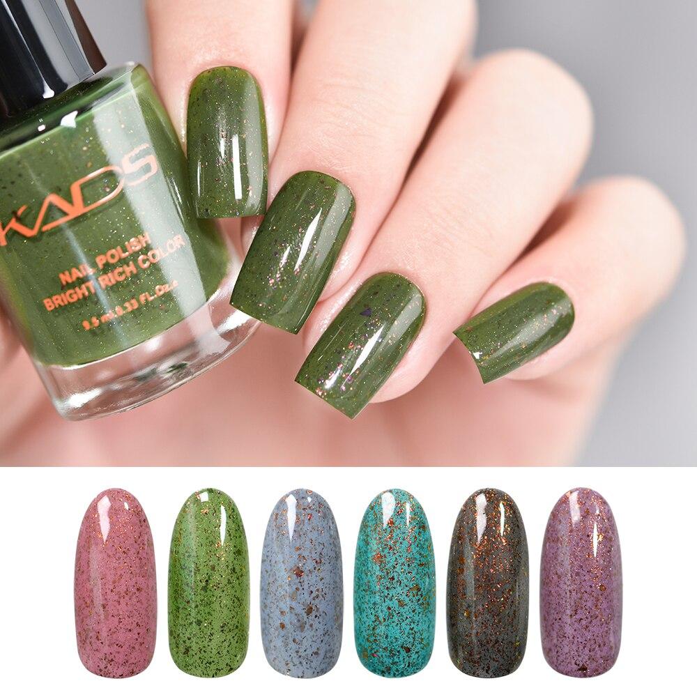 KADS 6 шт./компл. слюды лак для ногтей 9,5 мл блестки Flakies лак для ногтей! полупостоянная лак для ногтей Лаки блестящие Shimmer польский