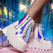 Luxury Brand New Fashion Female Platform Increase Boots Classic Wedges Ankle