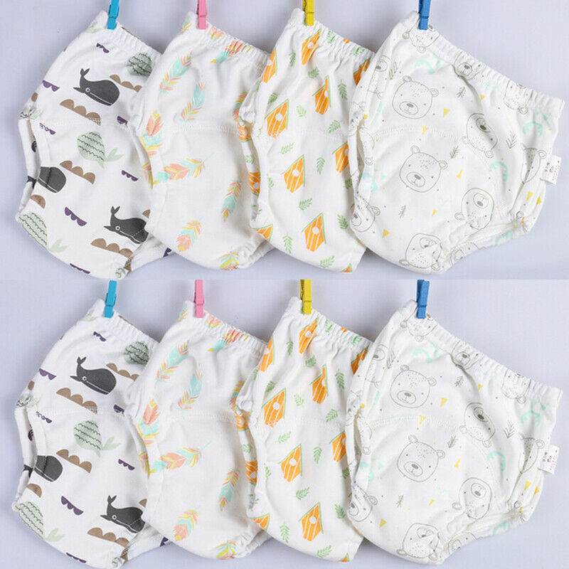 New Reusable Baby Washable Cloth Nappy Cover Hook-Loop Pocket Diaper 6 Layers