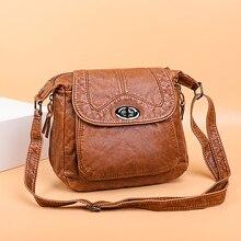 女性のためのクロスボディバッグヴィンテージハンドバッグ女性ソフト洗浄レザー財布やハンドバッグデザイナーバッグ有名なブランドの女性のバッグ