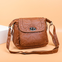 Crossbody Bags For Women Vintage Handbags Female Soft Washed Leather Purses and Handbags Designer Bags Famous Brand Women Bags