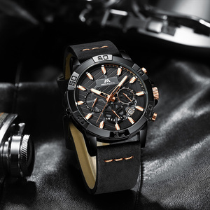 Image 3 - reloj hombre watches MEGALITH sport chronograph waterproof watch men top brand luxury luminous watch men leather horloges mannen