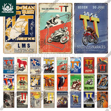Putuo Decor Vintage Racing Track Tin Sign Isle of Man TT Metal Poster Plaque Garage Plate Bar Club Man Cave Home Wall Decoration