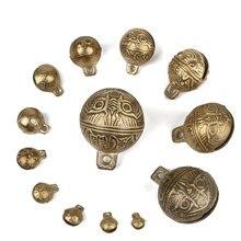Cloches de tigre en cuivre, 1 pièce, pour chien de compagnie, décoration de Festival de noël, cadeau, accessoires artisanaux DIY