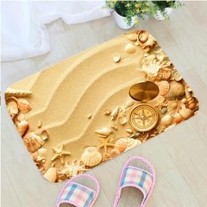 Image 5 - 40*60cm 비치 쉘 바닥 매트 비 슬립 스웨이드 소프트 카펫 도어 매트 주방 거실 바닥 매트 침실 장식 바닥 매트.