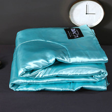 Washable Ice Silk Summer Air Conditioning Comforter Quilt Blanket for Bed Sofa for Children Adults Queen King