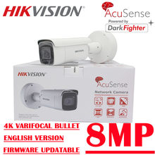 Hikvision – caméra réseau originale IR AcuSense 8Mp POE 4K IP67, zoom fixe Varifocal