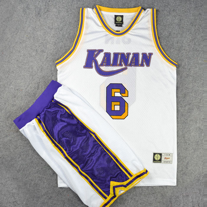 Anime SLAM DUNK High School Affiliated to Hainan Shirt Sports Wear Uniform Jersey Cosplay Basketball Team