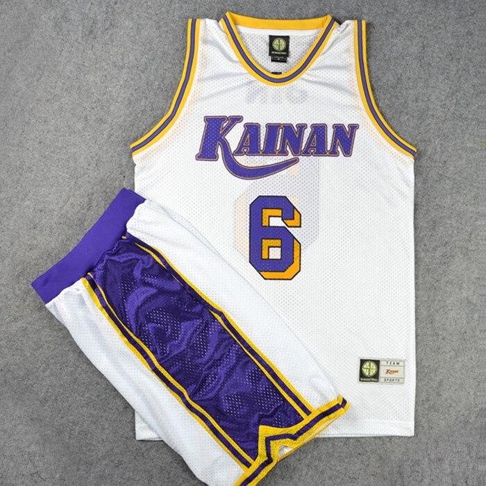 Anime SLAM DUNK High School Affiliated to Hainan University Jersey Shirt Sports Wear Uniform Jersey Cosplay Basketball Team