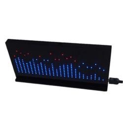 DIY Licht Cube Kit AS1424 Musik Spektrum Led-anzeige Audio Verstärker Änderung Rhythmus Lampe-Fertig Produkt Schwarz