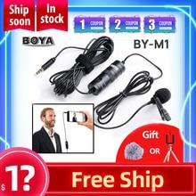 BY M1 Universele Clip On Kraag Tie Microfoon Mobiele Telefoon Microfoon Microfoon Voor Ios Android Camera Opname Pen