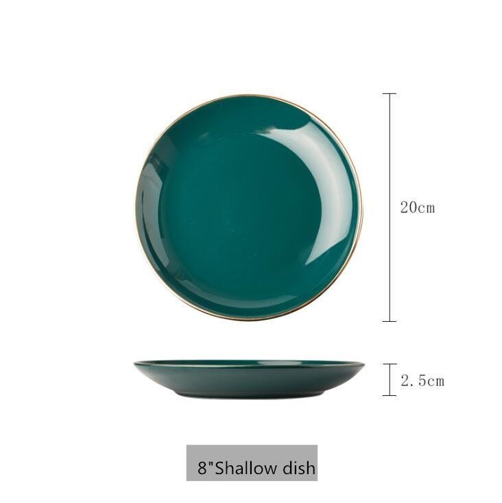 8 inch Shallow dish