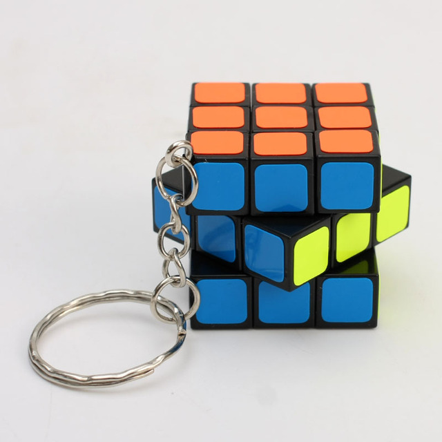 cheapest 3x3x3 ZCUBE Mini 3rd order Keychain Magic Cubing Speed  Puzzle Educational Toy For Children Kids 5